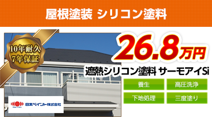 屋根塗装料金 遮熱シリコン塗料 10年耐久
